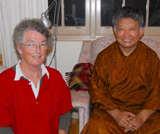 Lama Choedak and Jacqui