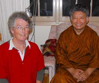 Lama Choedak and Jacqui