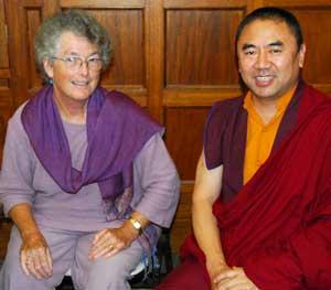 Khenpo Ngawang Dhamchoe and Jacqui