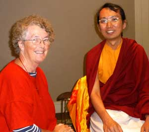 HE Ratna Vajra and Jacqui